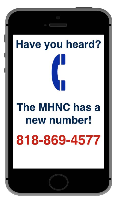 New phone number notice