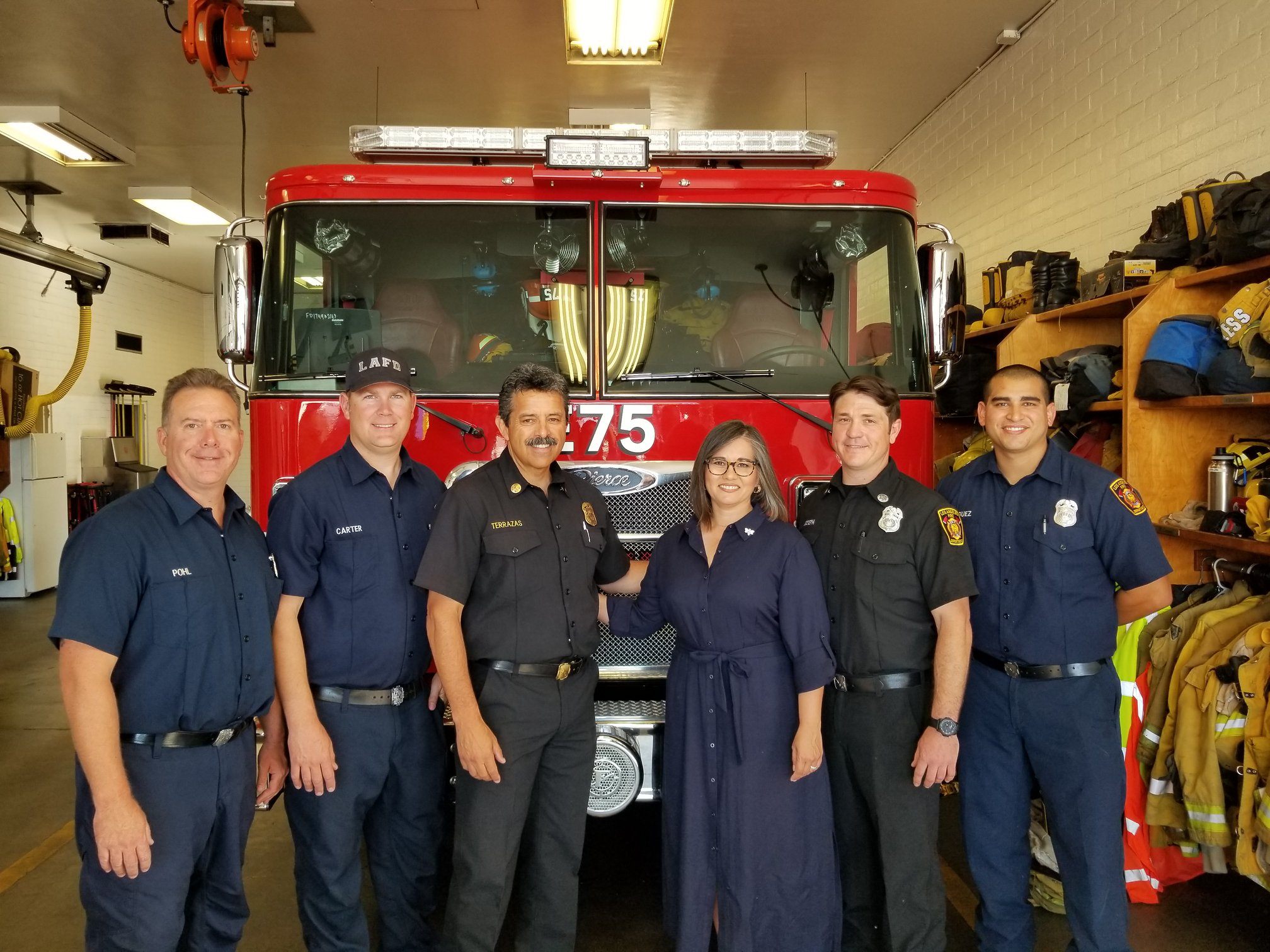 Monica Rodriguez with LAFD