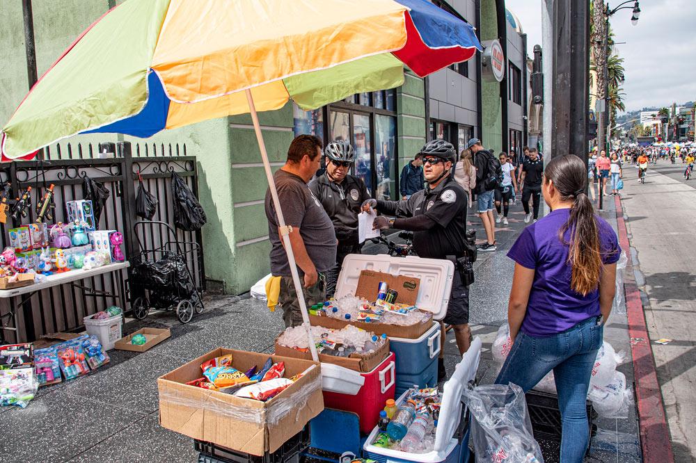 Illegal street vending