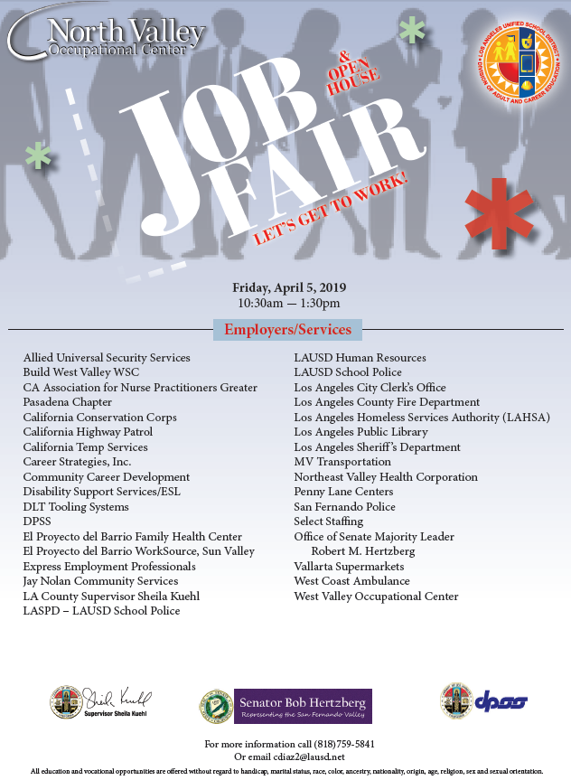 Job Fair Employer List