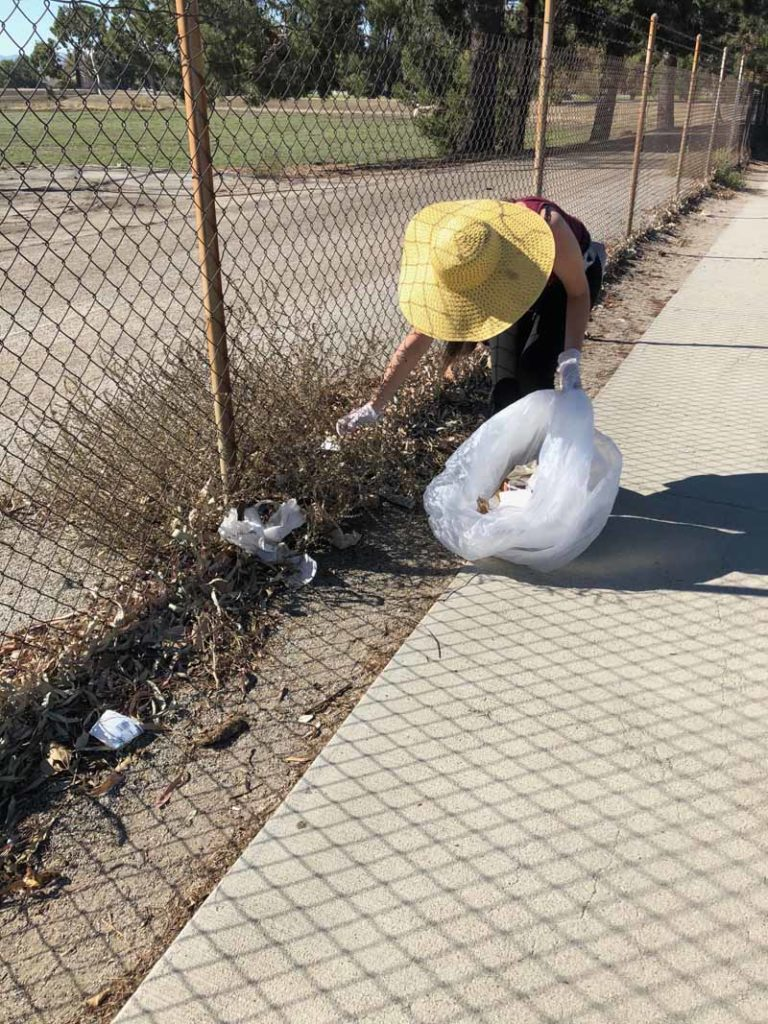 cleaning up at nature parkway