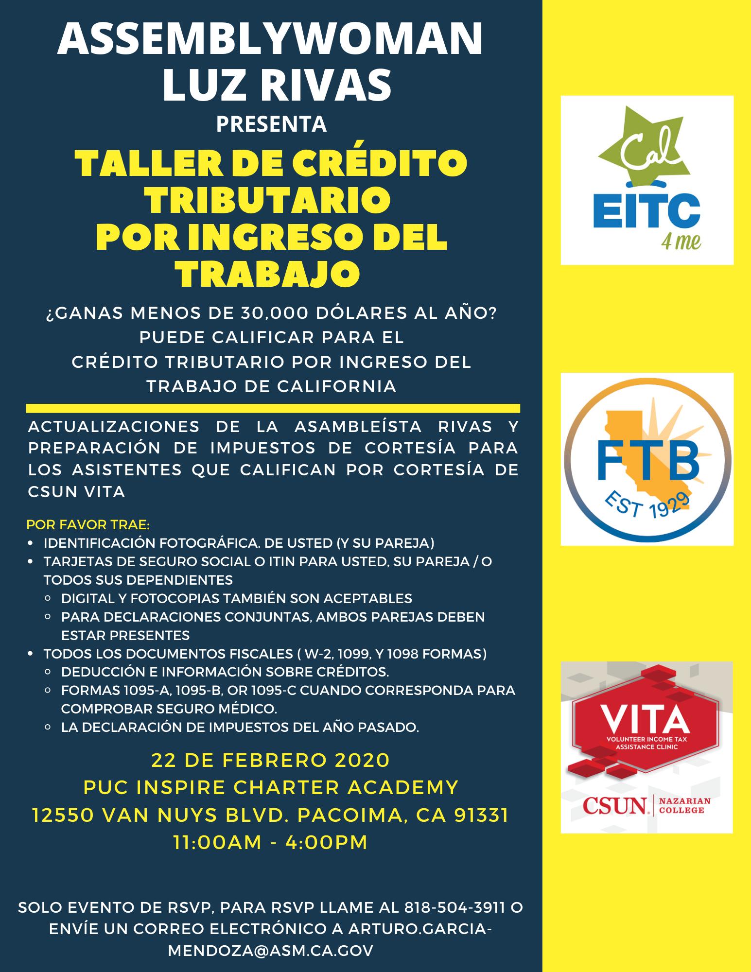 taller de credito tributario
