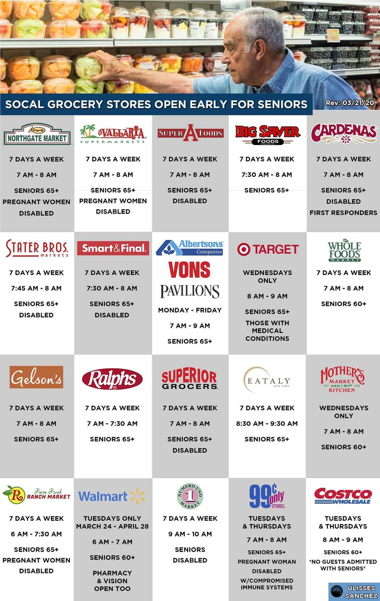 Senior Shopping Times