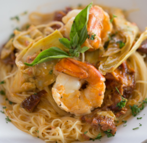 Buon gusto pasta with shrimp