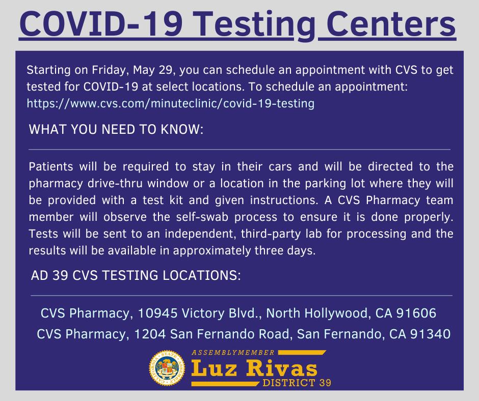 COVID -19 Testing at CVS