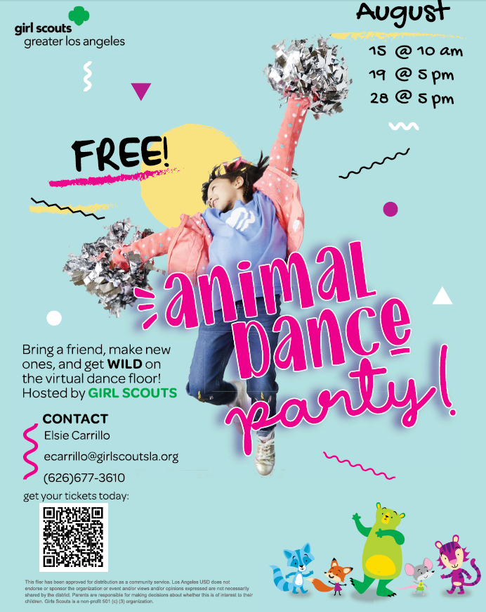 Girl Scout Animal Dance Party