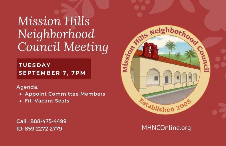 Mission Hills September meeting