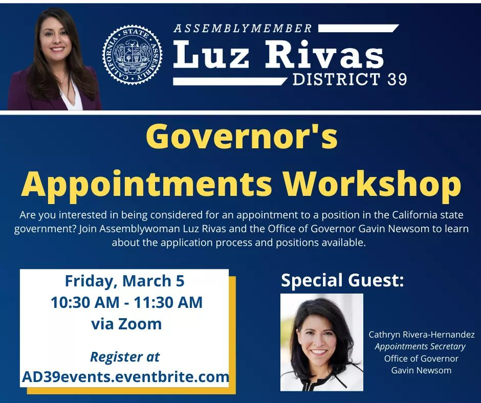 Governor's Appointments Workshop