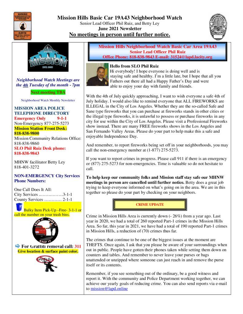 thumbnail of June 2021 MHNW newsletter