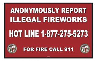 report fireworks