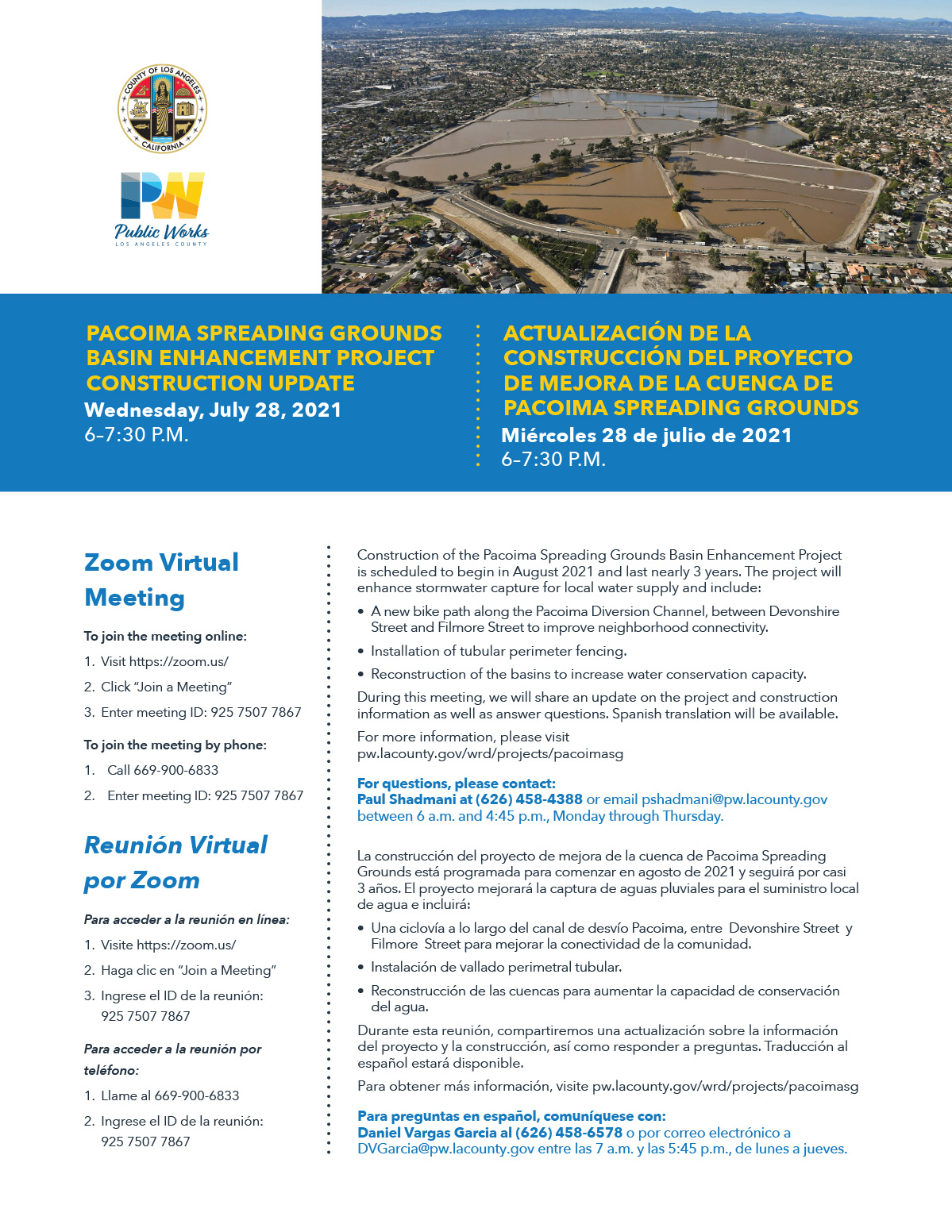 pacoima spreading grounds project