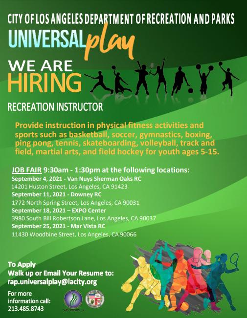 Recreation & Parks Job Fair